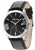 Police 14139JS/02L Sonoran Gents Analogue Watch Date Black Leather Strap